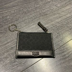 Black Coach Card Wallet